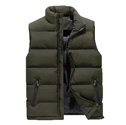 Vest Nnen Cotton Leisure Comfortable Jacket Green Vest Battercake Down Winter Outerwear Yards Feathers Jacket Men Mallets Warm qqg60