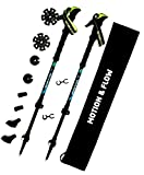 """""""End Of Season Sale"""" Strongest Light Weight Poles Available / Collapsible / Anti Fatigue For Walking / Hiking & Trekking with Soft EVA Foam Grips, Quick Locks, All Terrain Accessories and Carry Bag."""