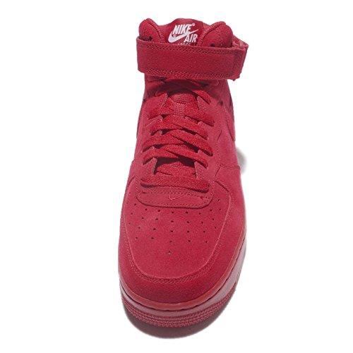 Nike Mens Air Force 1 Mid Scarpe Da Basket Rosse