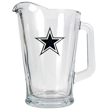NFL Dallas Cowboys 60-Ounce Glass Pitcher - Primary Logo