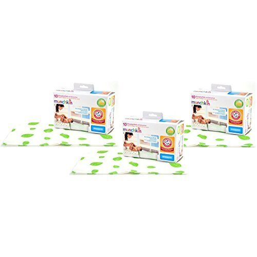 Munchkin Arm & Hammer Disposable Changing Pad - 30 Pack by Munchkin