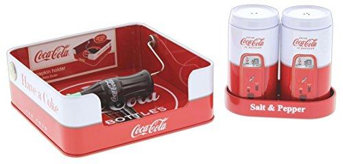 Bundle Of Tin Box Co  Coca Cola Salt   Pepper Shaker Set And Napkin Holder