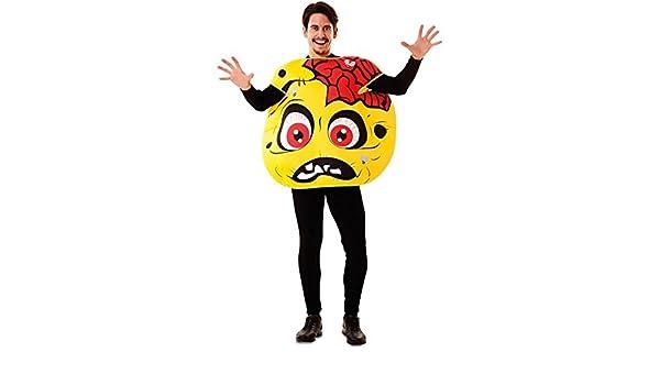 Disfraz de Emoticono Zombie para adultos: Amazon.es: Juguetes y juegos