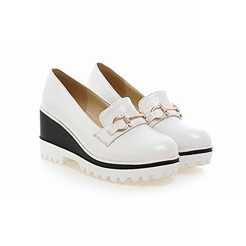 Show Shine Womens Fashion Platform Wedge Heel Shoes White d7TG1Qg0ZT