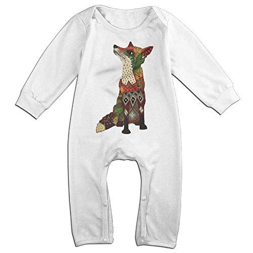 Halloween In Sacramento (Infant Baby's Fox Love Juniper Long Sleeve Romper Climb Clothes 24 Months White)