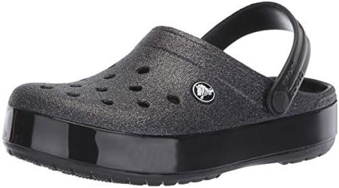 Crocs Crocband Glitter Clog, black, 7