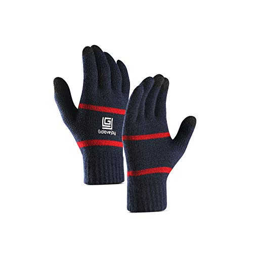 XXJKHL 1 Pair Winter Gloves Knit Mitten Anti-Slip Touch Screen Gloves Wool Magic Warm Gloves for Women Men (1 Gloves Magic)