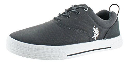 Men's Nylon Boat Casual Lace Fashion U in Assn up Polo Sneakers Shoes Black S Skip 4wwqX6f