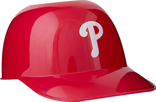 Official MLB Mini Baseball Helmet 8oz Ice Cream/Snack Bowls, 1 Count, Philadelphia Phillies