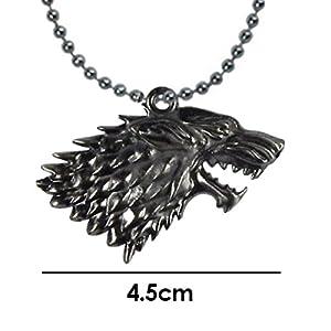 Game-of-Thrones-Dije-Collar-Juego-de-Tronos-Casa-Stark-Lobo