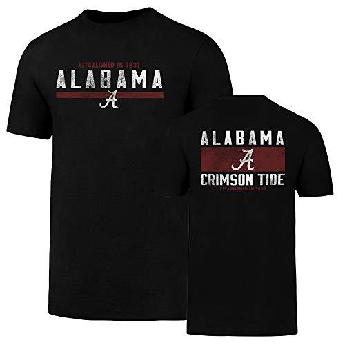 NCAA Alabama Crimson Tide Men's OTS Rival Tee, Jet Black, Medium