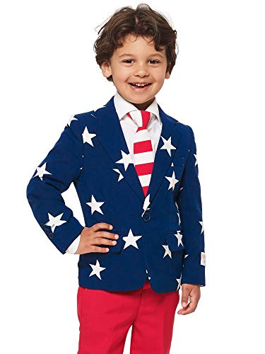 OppoSuits Crazy Suits for Boys in Different Prints - Comes with Jacket, Pants and Tie in Funny Designs