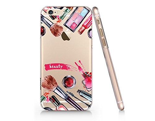 Make up pattern , Lipstick Mascara Slim Iphone 5 5s Case, Clear Iphone Hard Cover Case For Apple Iphone 5 5s Emerishop (Ip5)
