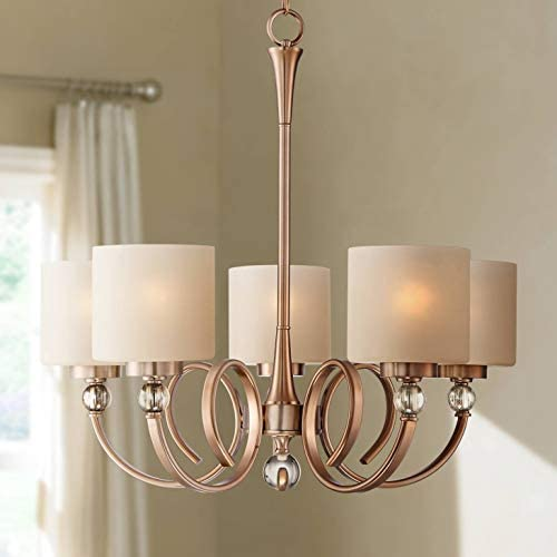 Ovanda Antique Brass Chandelier 26 Wide Modern Opal Glass 5-Light Fixture for Dining Room House Foyer Kitchen Island Entryway Bedroom Living Room – Possini Euro Design