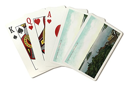 Lubec, Maine - Aerial View of Passamaquoddy Bay (Playing Card Deck - 52 Card Poker Size with Jokers)