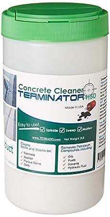 Concrete Stain Remover >> Terminator Hsd Eco Friendly Oil Stain Remover For Concrete And Asphalt Driveways 2 Lb