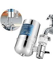 Kylewo Waterfilter voor de kraan, waterfiltersysteem, tafelwaterfilter met waterfilterpatronen, filtert schadelijke stoffen, chloor, lood, pesticiden