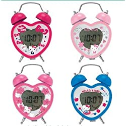Hello Kitty Heart Petite Digital Alarm Clock Set of 4