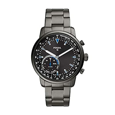 Fossil Q Men's Goodwin Stainless Steel Hybrid Smartwatch, Color: Smoke Grey (Model: FTW1174) from Fossil Connected Watches Child Code