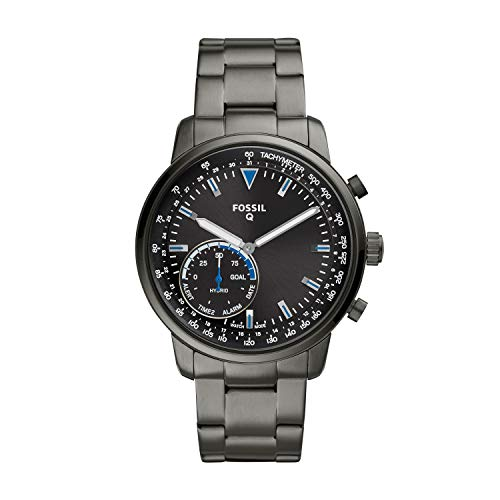 Fossil Q Men's Goodwin Stainless Steel Hybrid Smartwatch, Color : Smoke Grey (Model : FTW1174)