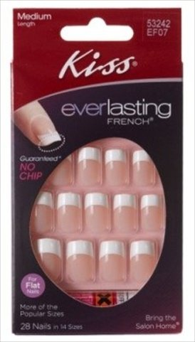 Kiss Everlasting French Nail Kit Medium Perpetual 28 Nails by Kiss Products: Amazon.es: Salud y cuidado personal