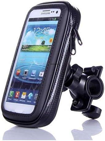 Electrost オートバイの自転車に乗る携帯電話のブラケットのナビゲーション防水タッチバッグ (サイズ : M)