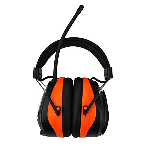 Bluetooth & Radio AM/FM Hearing Protection Ear Protector - Wireless Noise Reduction Safety Earmuffs - NRR 25dB Headphones for Working Mowing Construction by PROTEAR (Image #3)
