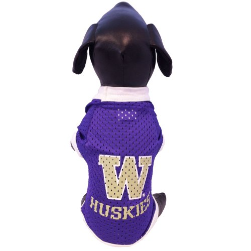 NCAA Washington Huskies Athletic Mesh Dog Jersey (Team Color, X-Small) Jersey Sporting Dogs