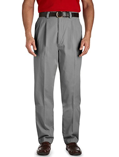 Harbor Bay by DXL Big and Tall Waist-Relaxer Casual Pants