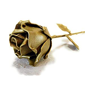 "♥ Eternal Rose Hand-Forged Wrought Iron Golden""Ideal gift for Valentine's Day, Girlfriend, Mother's Day, Couple, Birthday, Christmas, Wedding, Anniversary, Decor, Indoor"" 1"