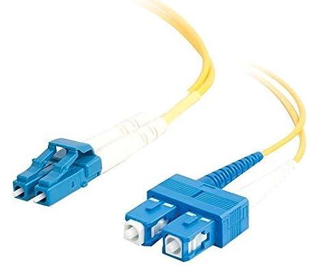 C2G 10m LC-SC 9/125 OS1 Duplex Singlemode PVC Fibre Optic Cable (LSZH) - Yellow 85591
