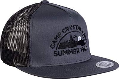 Camp Crystal Lake, Summer 1980 | Funny 80s Retro Vintage Movie Horror Cap Hat Grey/Black