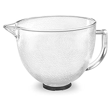 KitchenAid K5GBH Tilt-Head Hammered Glass Bowl with Lid, 5-Quart