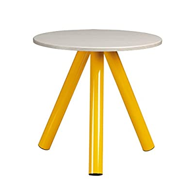 Sauder Soft Modern Side Table, Yellow Saffron finish - Laminate top in Pickled Ash finish Metal legs Finished on all sides - living-room-furniture, living-room, end-tables - 41Bu4%2Bry6WL. SS400  -