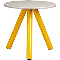 Sauder Soft Modern Collection Side Table, Yellow/White