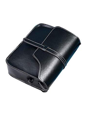 Vintage Crossbody, AgrinTol Women Vintage Purse Bag Leather Crossbody Shoulder Messenger Bag (Black)