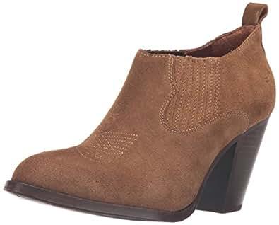 FRYE Women's Ilana Shootie Suede Boot, Cashew, 6 M US
