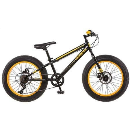 "20"" Mongoose Massif Boys' All-Terrain Fat Tire Mountain Bike"