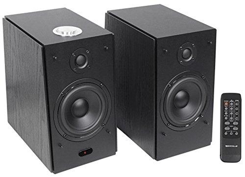 (2) Rockville HD5B 5″ 150w RMS Powered Bluetooth Bookshelf Home Theater Speakers