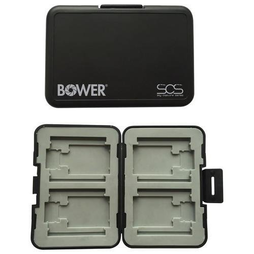 Bower Sky Capture Series SCS-MW4 Memory Card Case for CF, SD & Micro SD Card by Bower