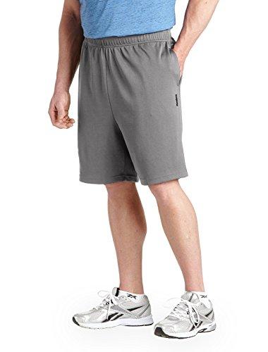 Reebok Drawstring Shorts (Reebok Big & Tall Play Dry Tech Mesh Shorts (4XL, Steel Grey))