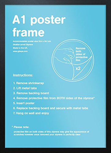 GB eye 59.4 x 84.1 cm A1 Frame, Black, Multi-Colour by GB Eye Limited