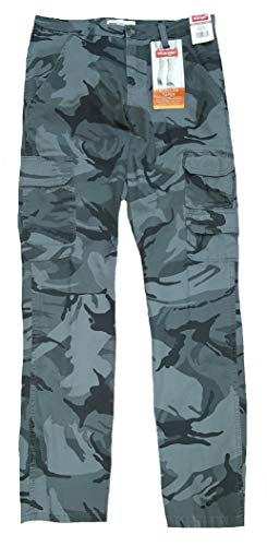 Wrangler Anthracite Camo Regular Taper Stretch Cargo Pants - 32 X 32
