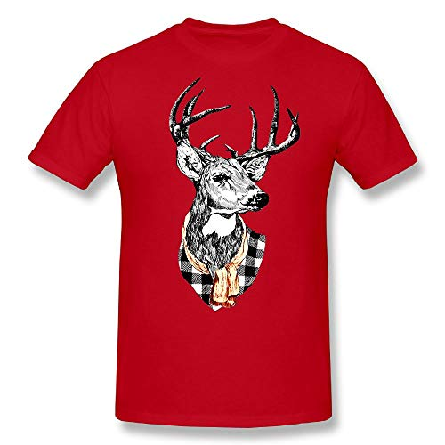CENJOAN Color Antlers Short Sleeve T-Shirt Cotton Tee Mens (Mens Watch President Series)