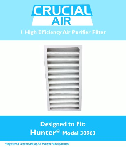 1 Hunter 30710, 30711 & 30730 Air Purifier Filter, Part # 30963, Designed & Engineered by Crucial Air