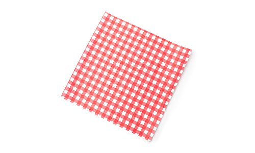 Fox Run 13201 French Fry Wax Paper Liners, Red Gingham, 24-Count ()