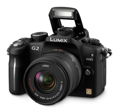 Panasonic Lumix DMC-G2 12.1 MP Live MOS Mirrorless Digital Camera with 3-Inch Touch Screen LCD and 14-42mm Lumix G VARIO f/3.5-5.6 MEGA OIS Lens (Black) ()
