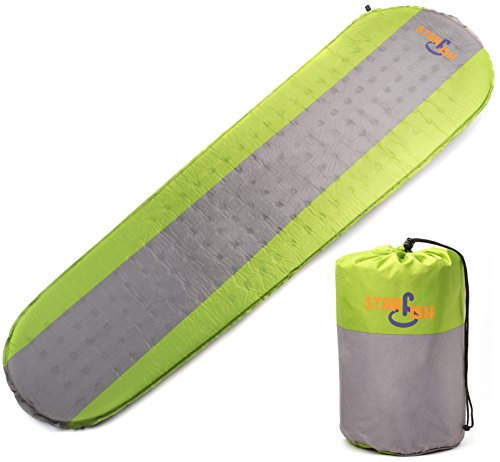 STARFISH Camping Sleeping Pad Lightweight Hiking Backpacking Self Inflating Comfortable Foam Ultralight Compact Durable Mattress for Outdoor Traveling Sleep Rest Insulated Support Mummy Bag Bed