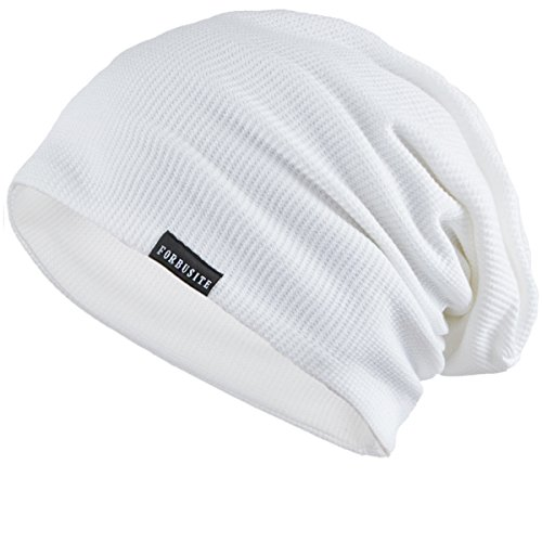 Slouch Hat White - FORBUSITE Baggy Slouch Beanie Hats for Men Summer Winter B020bA White