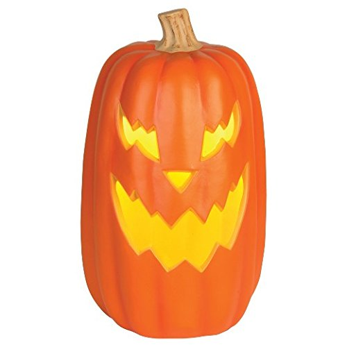 Plastic Halloween Pumpkins (Halloween Lit Pumpkin Orange 16